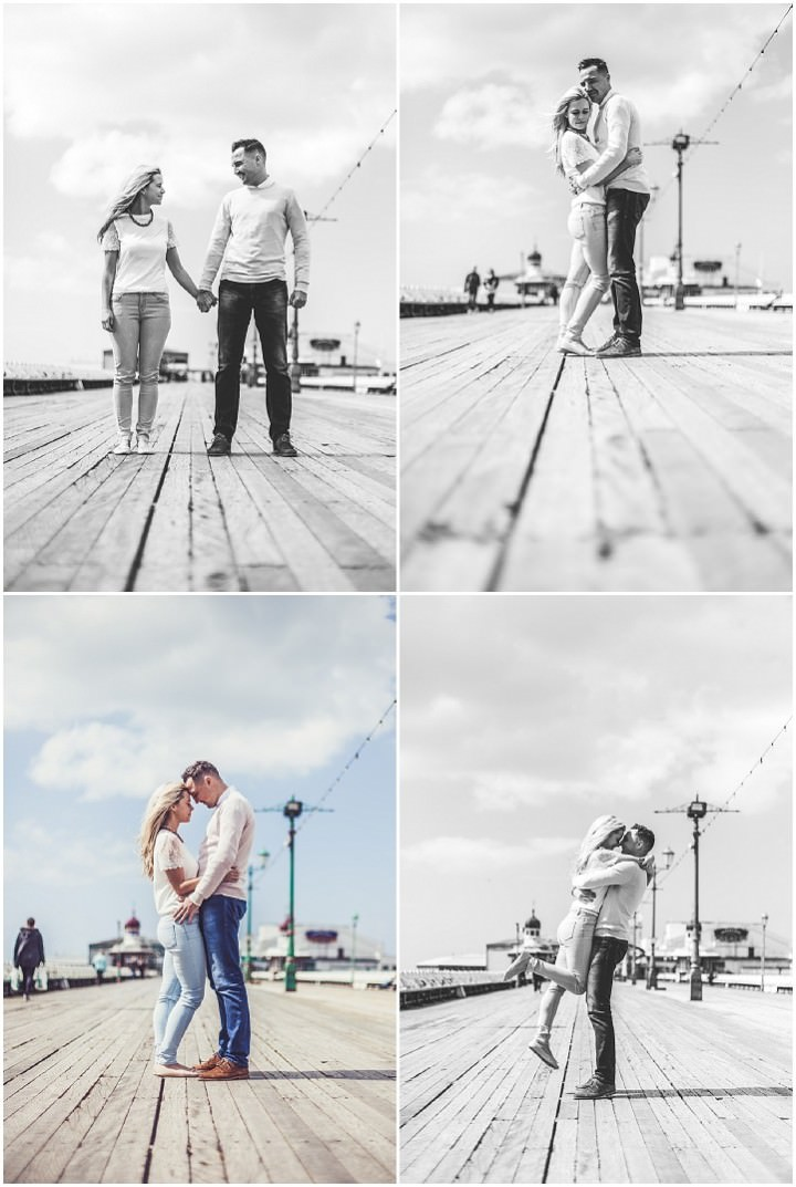 23 Rebecca & Gary's Blackpool Pre-Wedding Shoot. By Claire Penn
