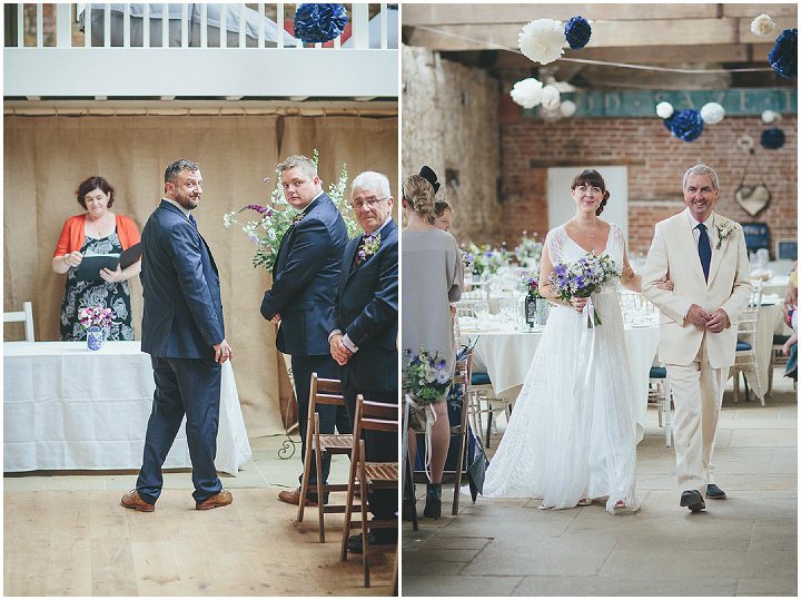 26 Katy & Steven's Navy Dorset Barn Wedding. By Helen Lisk