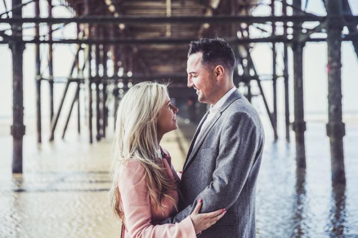 26 Rebecca & Gary's Blackpool Pre-Wedding Shoot. By Claire Penn