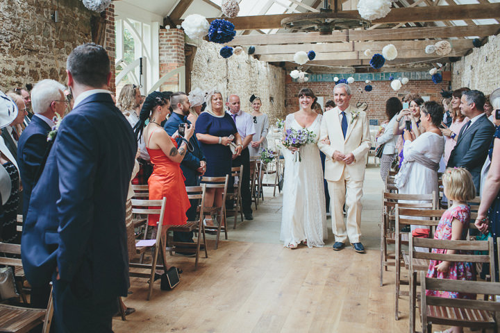 27 Katy & Steven's Navy Dorset Barn Wedding. By Helen Lisk