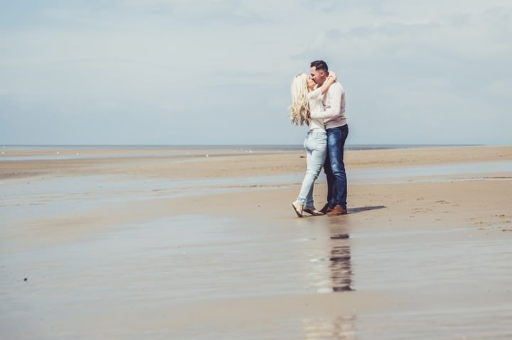 29 Rebecca & Gary's Blackpool Pre-Wedding Shoot. By Claire Penn