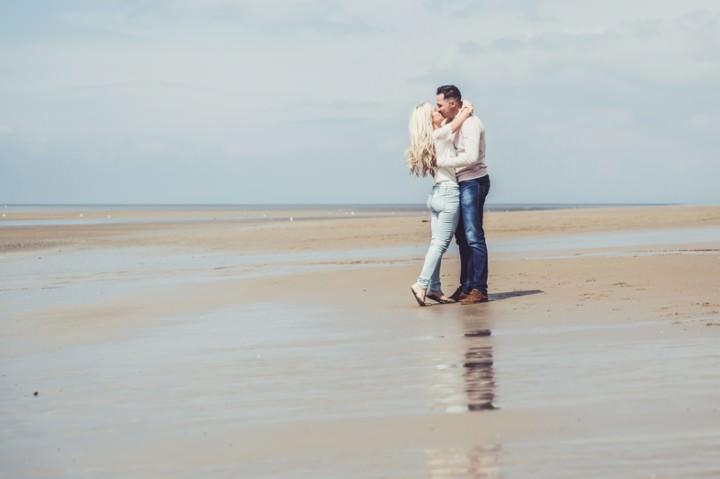 29 Rebecca & Gary's Blackpool Pre-Wedding Shoot. By Claire Penn