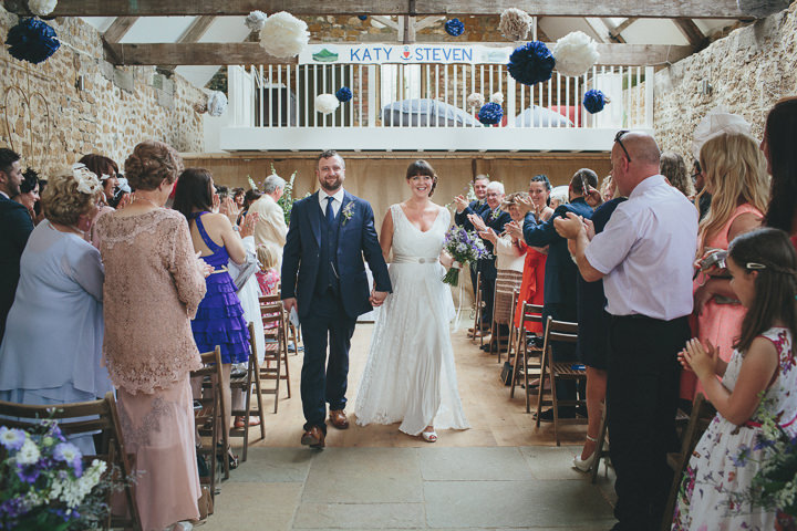 30 Katy & Steven's Navy Dorset Barn Wedding. By Helen Lisk