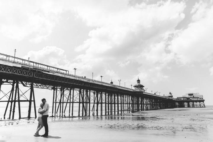 31 Rebecca & Gary's Blackpool Pre-Wedding Shoot. By Claire Penn