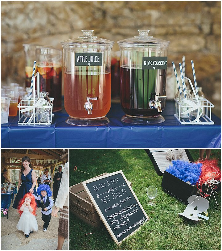 32 Katy & Steven's Navy Dorset Barn Wedding. By Helen Lisk