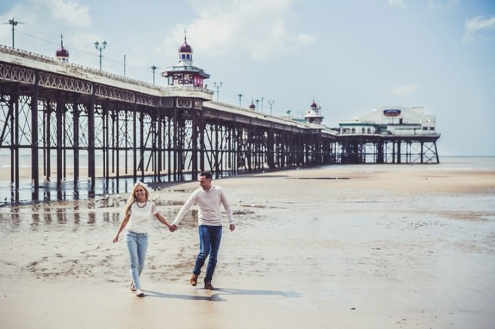 32 Rebecca & Gary's Blackpool Pre-Wedding Shoot. By Claire Penn
