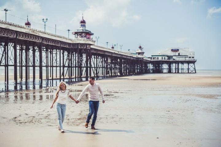 32 Rebecca & Gary's Blackpool Pre-Wedding Shoot. By Claire Penn