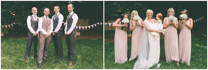 Ellie & Neil\'s Vintage, Shabby Chic Wedding With a Jenny Packham ...