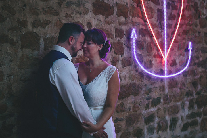4 Katy & Steven's Navy Dorset Barn Wedding. By Helen Lisk