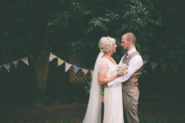 41 Ellie & Neil's Vintage, Shabby Chic Wedding. By Scuffins Photography