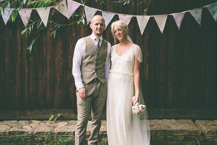 44 Ellie & Neil's Vintage, Shabby Chic Wedding. By Scuffins Photography
