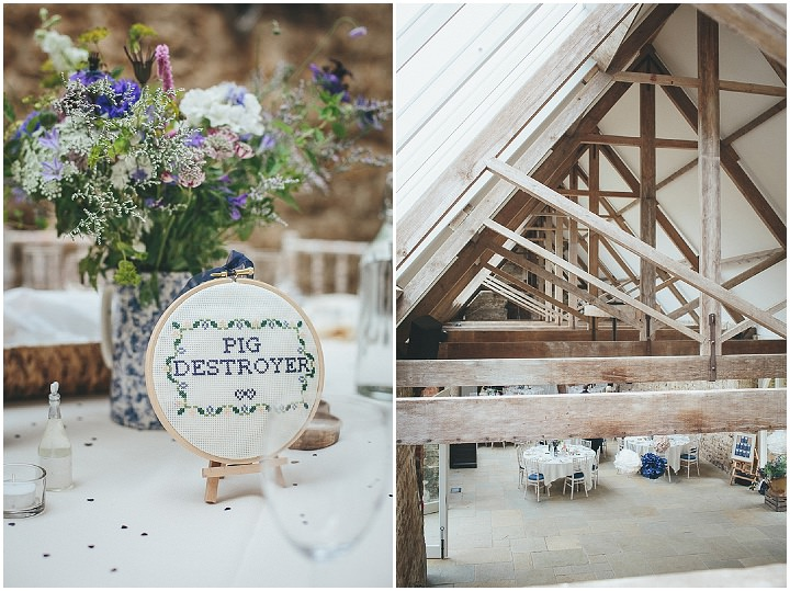 45 Katy & Steven's Navy Dorset Barn Wedding. By Helen Lisk