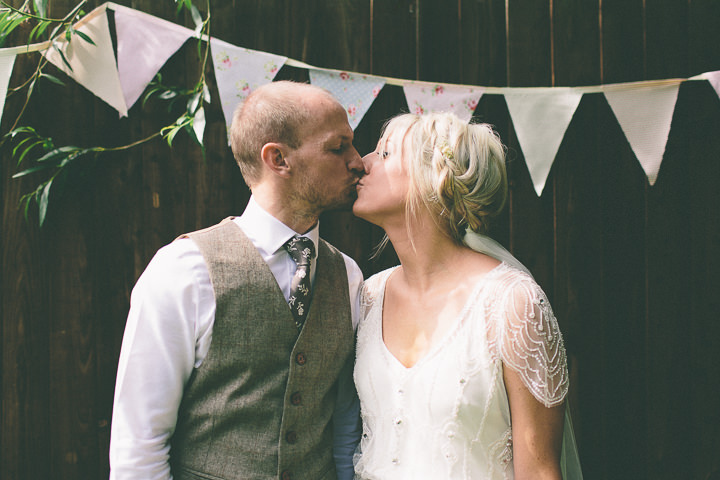46 Ellie & Neil's Vintage, Shabby Chic Wedding. By Scuffins Photography