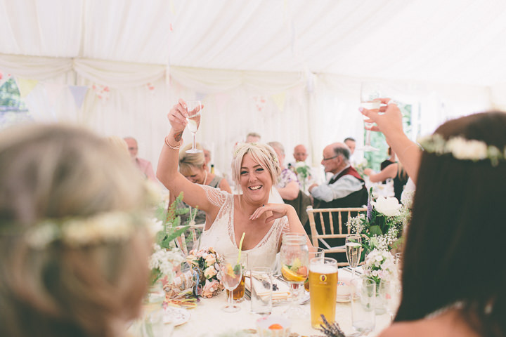 49 Ellie & Neil's Vintage, Shabby Chic Wedding. By Scuffins Photography