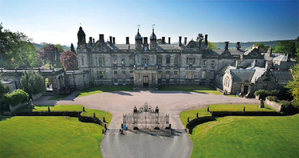 Sandon Hall 19th Century Country Mansion on Rustic Barn House Design