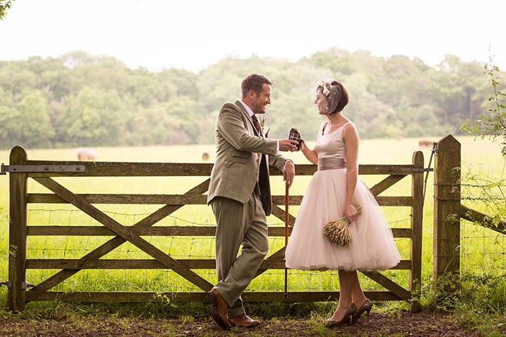 28 Vintage Barn Wedding with a Candy Anthony Dress. By Tom Halliday