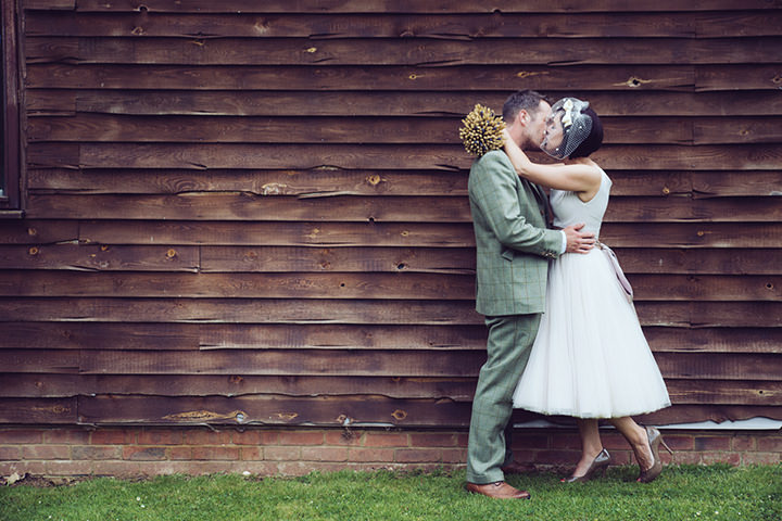 31 Vintage Barn Wedding with a Candy Anthony Dress. By Tom Halliday