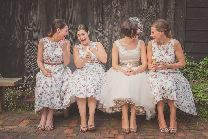 50 Vintage Barn Wedding with a Candy Anthony Dress. By Tom Halliday