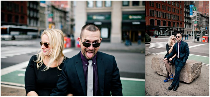 Coryne and Michael's New York Engagement Shoot.  By Monika Photo Art