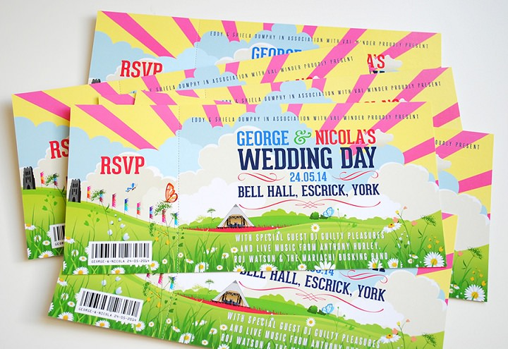1 WEDFEST Festival Themed Wedding Stationey