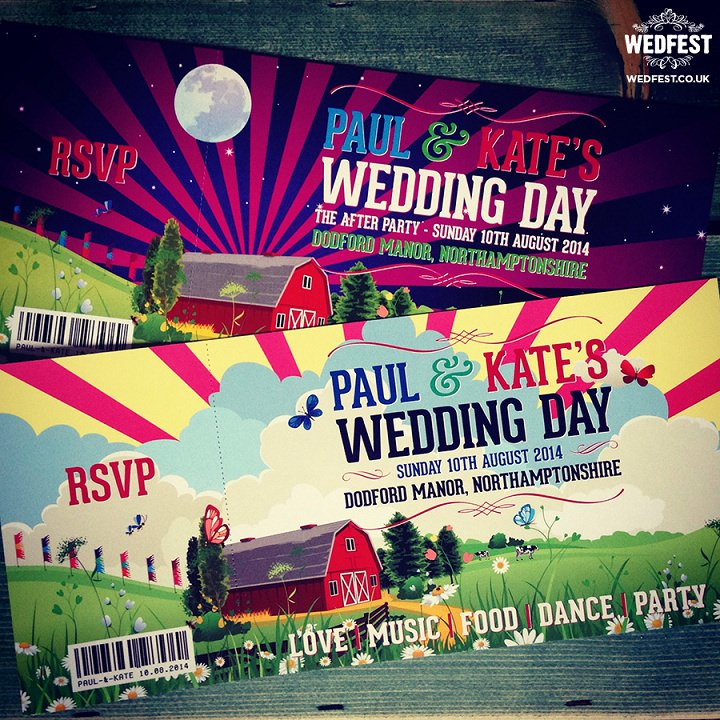 12 WEDFEST Festival Themed Wedding Stationey