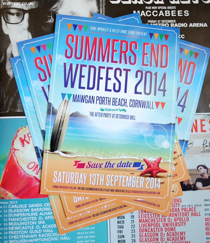 2 WEDFEST Festival Themed Wedding Stationey