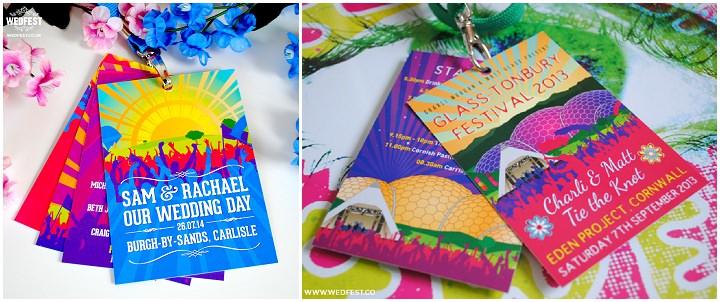20 WEDFEST Festival Themed Wedding Stationey