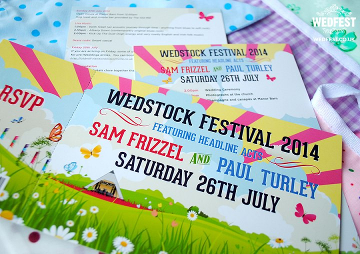 22 WEDFEST Festival Themed Wedding Stationey