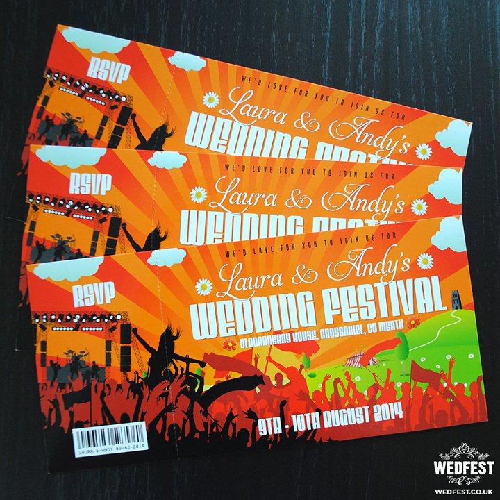 3 WEDFEST Festival Themed Wedding Stationey
