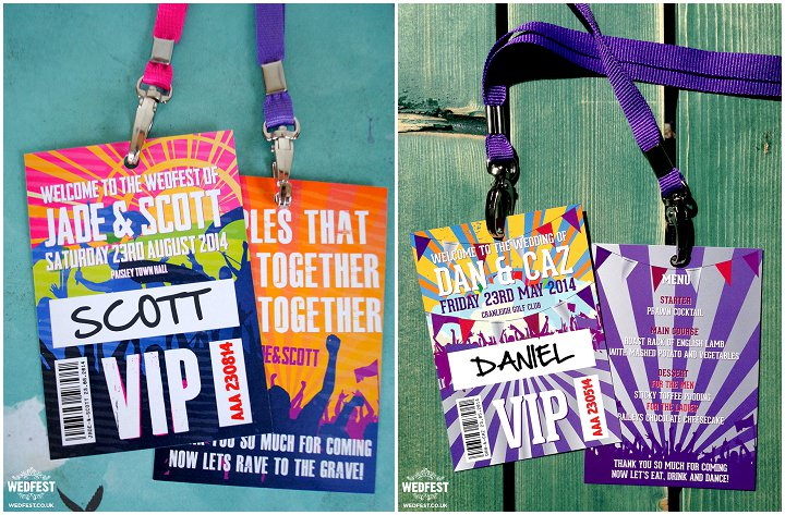 4 WEDFEST Festival Themed Wedding Stationey