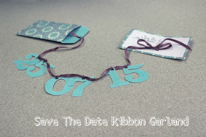 Save The Date Ribbon Garland