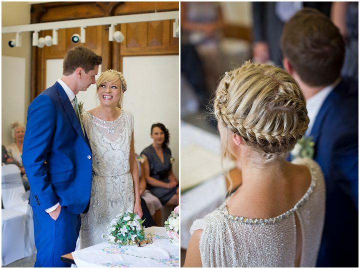 Janine And Ricks Homemade Wedding With A Jenny Packham Dress By - Homemade Wedding Dress
