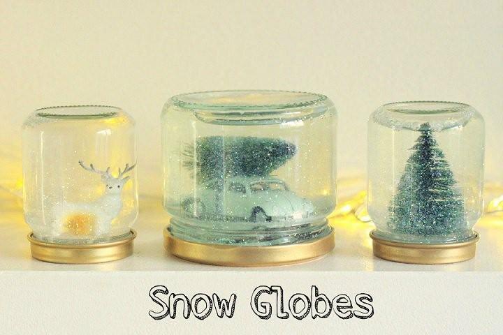 DIY Tutorial: DIY Snow Globes
