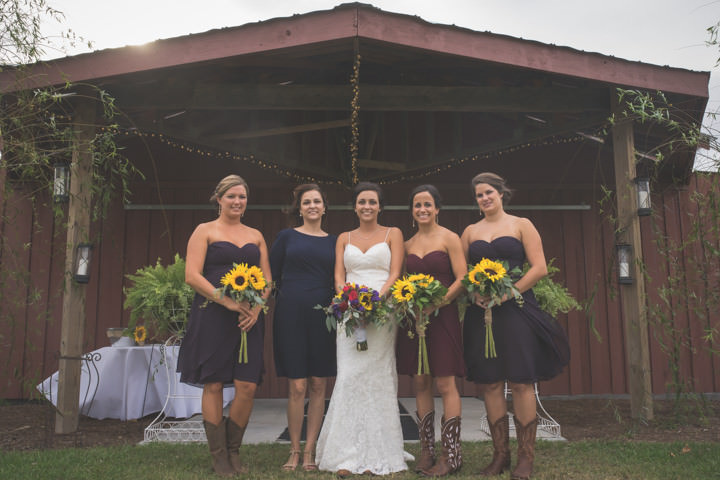 2 Sunflower Filled Rustic Barn Wedding. By Will Greene