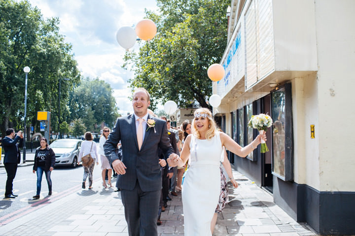 24 Pretty Peach Cinema Wedding By Laura Debourde Photography