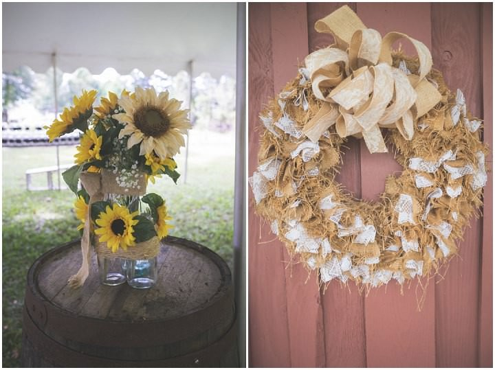 25 Sunflower Filled Rustic Barn Wedding. By Will Greene