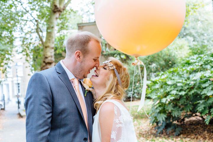 27 Pretty Peach Cinema Wedding By Laura Debourde Photography