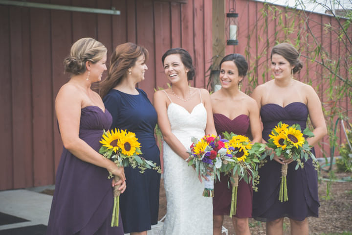 30 Sunflower Filled Rustic Barn Wedding. By Will Greene