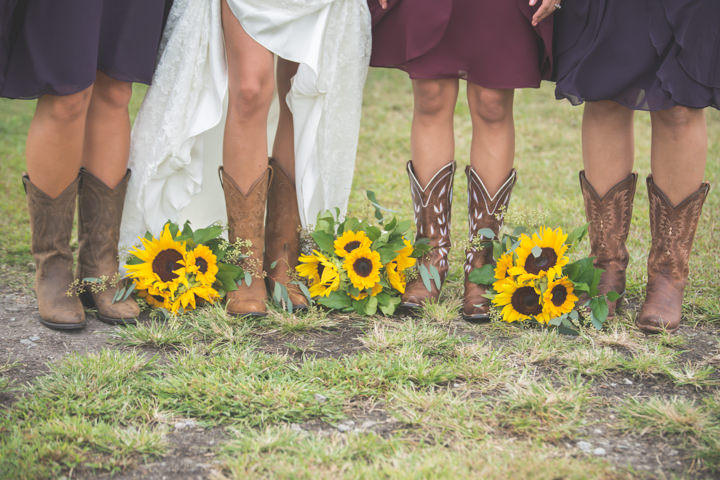 31 Sunflower Filled Rustic Barn Wedding. By Will Greene