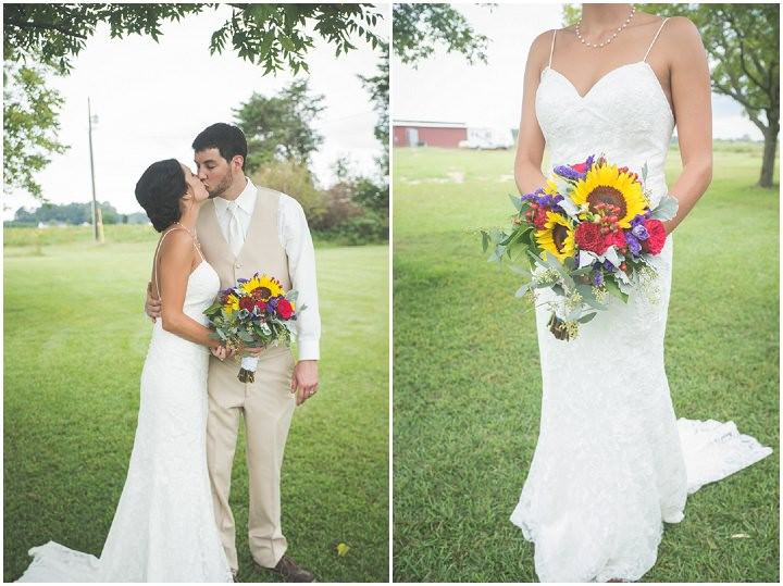 32 Sunflower Filled Rustic Barn Wedding. By Will Greene