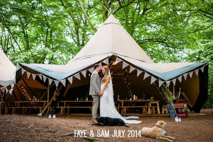 1a Woodland Tipi Wedding By Lucy Noble Photography