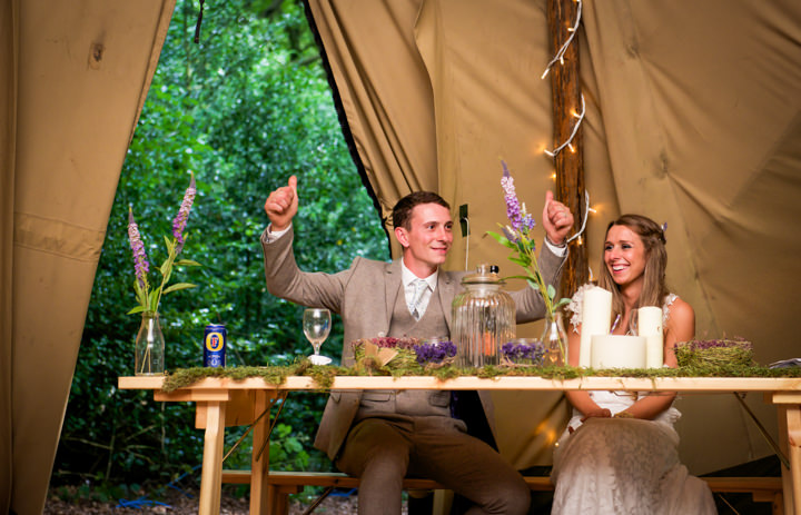 42 Woodland Tipi Wedding By Lucy Noble Photography
