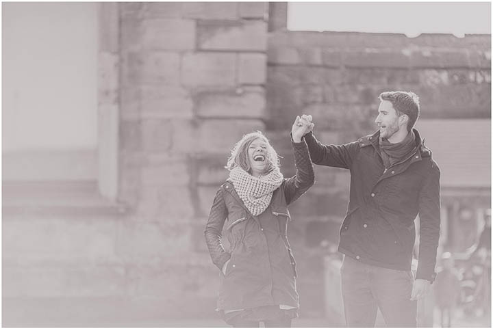 Laura and Patrick's seaside pre wed shoot in Whitby