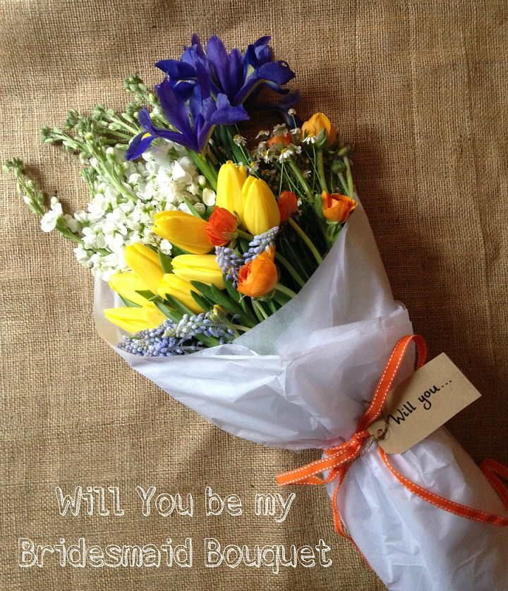 DIY Tutorial - Will You be my Bridesmaid Bouquet