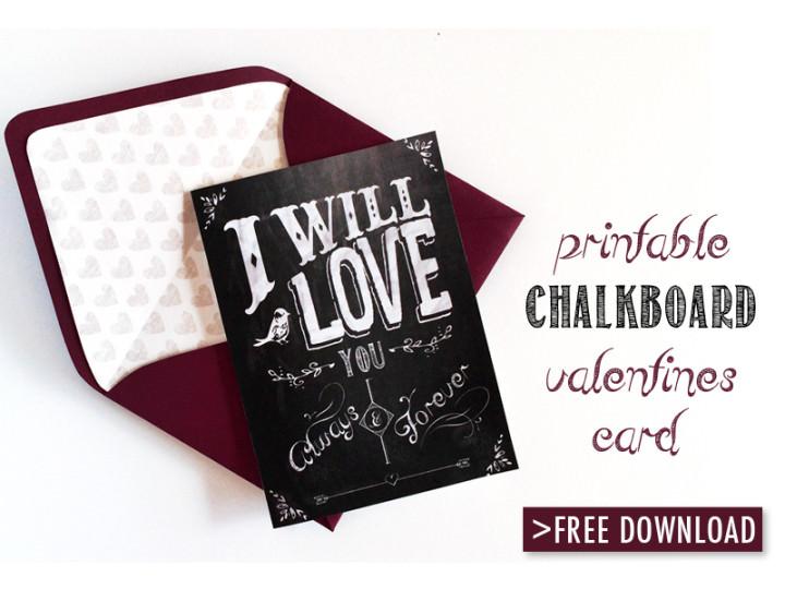 DIY Tutorial: FREE Valentines Day Card Download