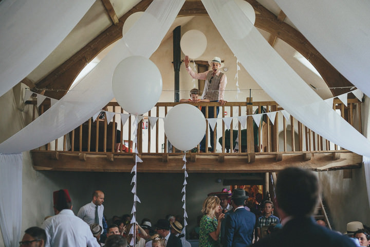 16 Bonkers Barn Wedding With a Black Wedding Dress by Helen Lisk