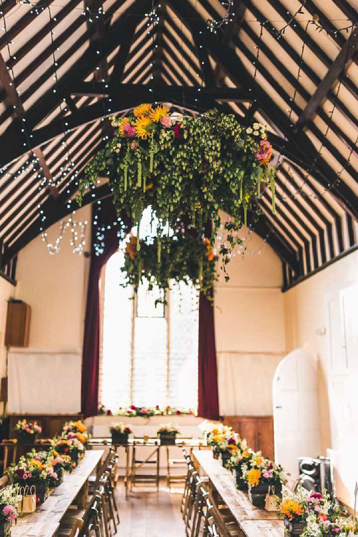 24 Village Hall Wedding By A Tall Long Legged Bird