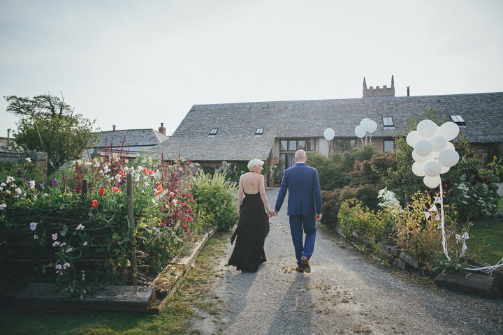 4 Bonkers Barn Wedding With a Black Wedding Dress by Helen Lisk