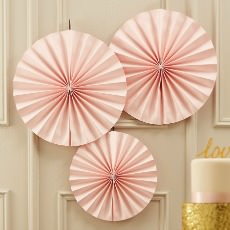 PP-654 Circle Fan Decorations - Pink