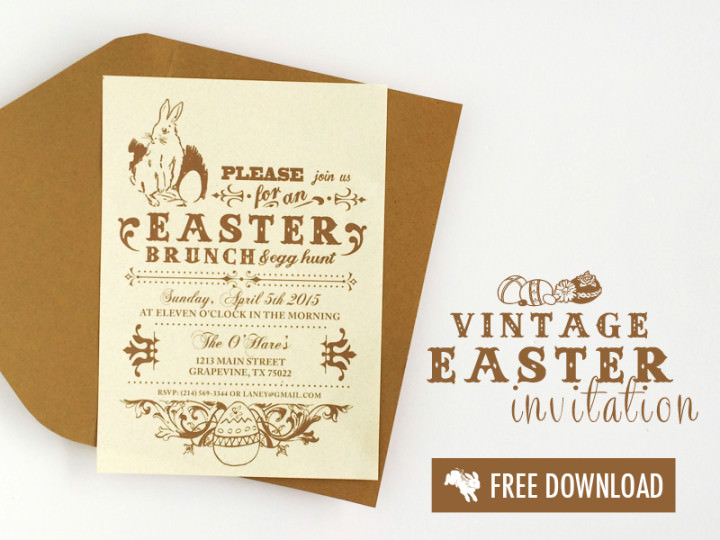 free-vintage-easter-printable-invitation